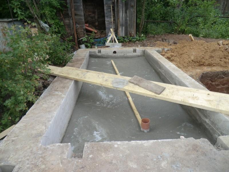 бетонный фундамент для бани