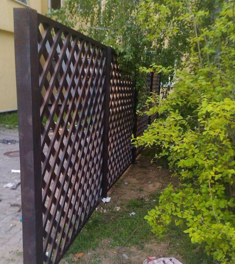 Забор из горбыля своими руками фото