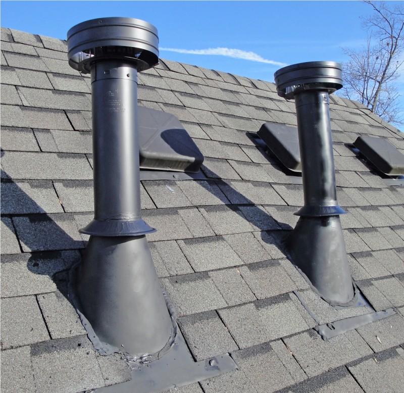 Труба на крыше дома: как сделать разделку и установку, правильно закрепить фартук и обустроить короб, детали на фото  видео